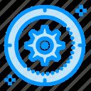 cog, gear, setting, target, wheel icon