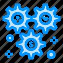 cog, configuration, dollar, setting, wheel icon