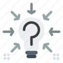 bulb, idea, question, solution, suggestion icon