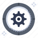 cog, gear, setting, target, wheel icon