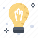 bulb, idea, light, mind, solution icon