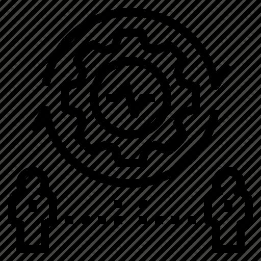 activity, business, control, management, process icon