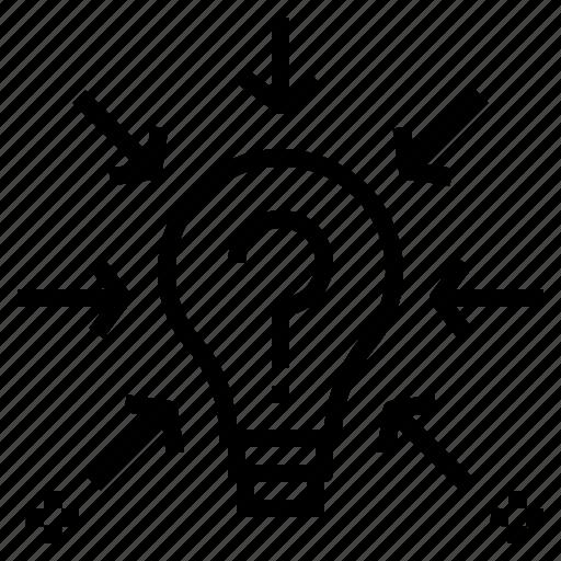 brainstorm, bulb, concept, idea, knowledge, light, opinion icon