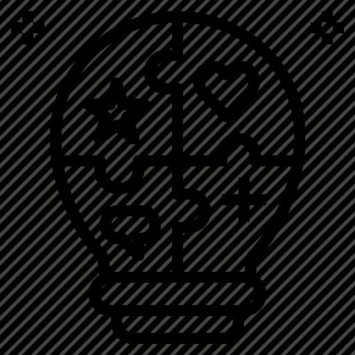 bulb, business, creative, idea, knowledge, opinion, skill icon