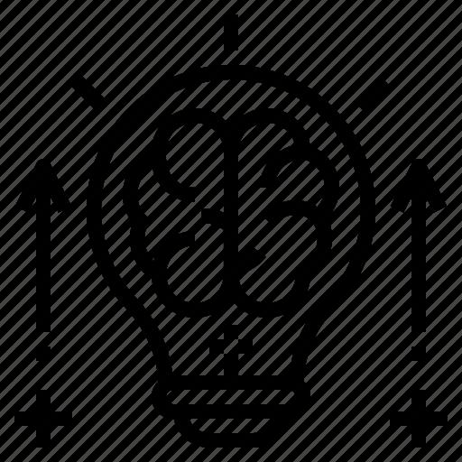 brain, bulb, creative, idea, intellectual, knowledge, value icon
