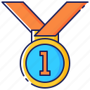 achievement, business, goal, medal, success, successful, victory icon