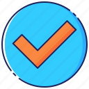 approval, approved, business, certified, check, mark, success icon