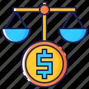 balance, budget, business, economy, finance, management, money icon
