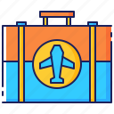 briefcase, business, luggage, plane, suitcase, travel, trip icon