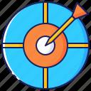 business, career, challenge, dart, dartboard, success, target icon