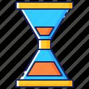 business, deadline, hour, hourglass, sandglass, time, timer icon