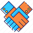 agreement, business, contract, deal, hand, handshake, partnership icon