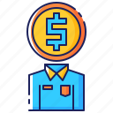 business, cost, employee, finance, financial, money, pay icon
