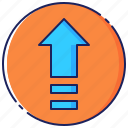 arrow, business, get, on, success, top, up icon