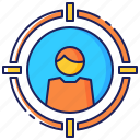 business, corporate, employment, head, headhunting, hunting, recruitment icon