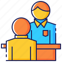 business, employee, employment, interview, job, man, people icon