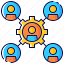 business, company, connection, cooperation, leadership, partnership, team icon