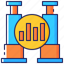 business, chart, data, forecast, graph, market, projection icon