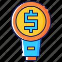 business, concept, idea, innovation, lightbulb creative, marketing icon