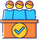 business, conference, corporate, discussion, meeting, people, teamwork icon