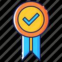 badge, check, label, mark, premium, quality, seal icon