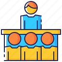 audience, business, conference, lecture, seminar, speaker, training icon