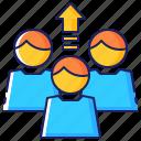 arrow, business, employee, employment, people, worker, workforce icon
