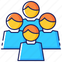 business, group, men, people, team, worker, workgroup icon