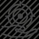 target, goal, achievement, personal, single, bullseye