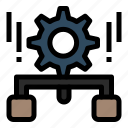 configuration, gear, management, setting, share icon