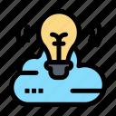 bulb, campaign, cloud, creative icon