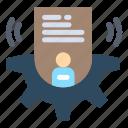 card, profile, setting, user icon