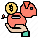 bank, earn, income, piggy, salary icon