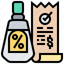 business, excise, products, receipt, tax icon