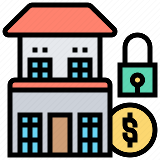 house, locked, private, property, restricted icon