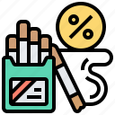 cigarettes, excise, harmful, sin, tax icon