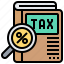 book, calculation, instruction, manual, tax icon