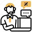 call, center, customer, operator, services icon