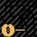 arrow, money, refund, return, tax icon