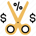 exclude, exemption, income, reduction, tax icon