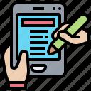 application, form, information, online, registration icon