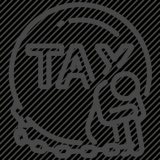 chain, duties, heavy, payable, slave, tax, taxes icon