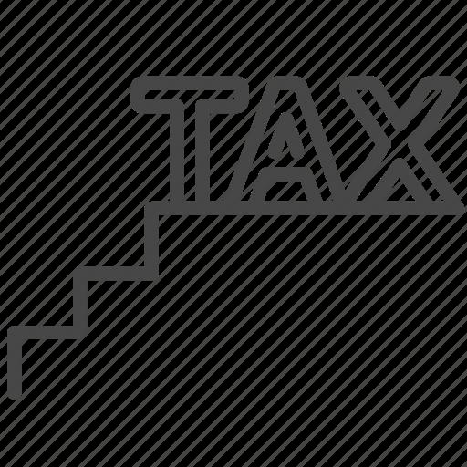 duties, payable, staircase tax, tariff, tax, taxes icon