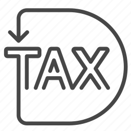charge, duties, payable, returns, tax, taxes icon
