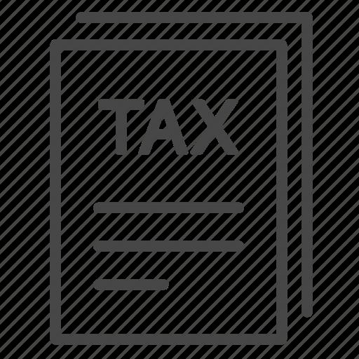 duties, form, invoice, payable, tax, taxes icon