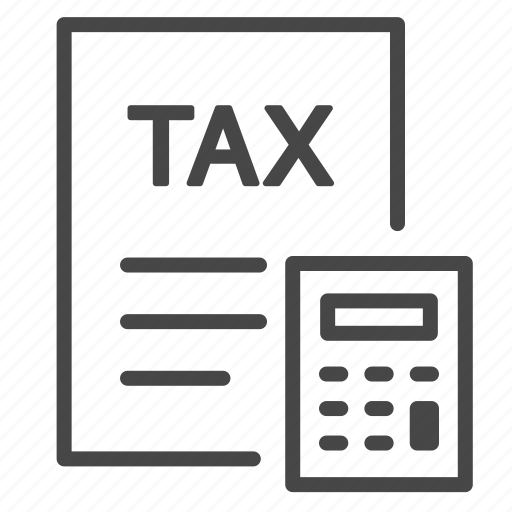 calculate, calculator, charge, duties, payable, tax, taxes icon