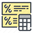 calc, accounting, calculation, tax, fee, loan, percentage