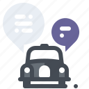 application, car, services, taxi, transport, vehicle icon