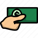 cash, dollar, money, pay, business, buy, lineart