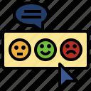 evaluation, feedback, rate, rating, review, sad, smileys